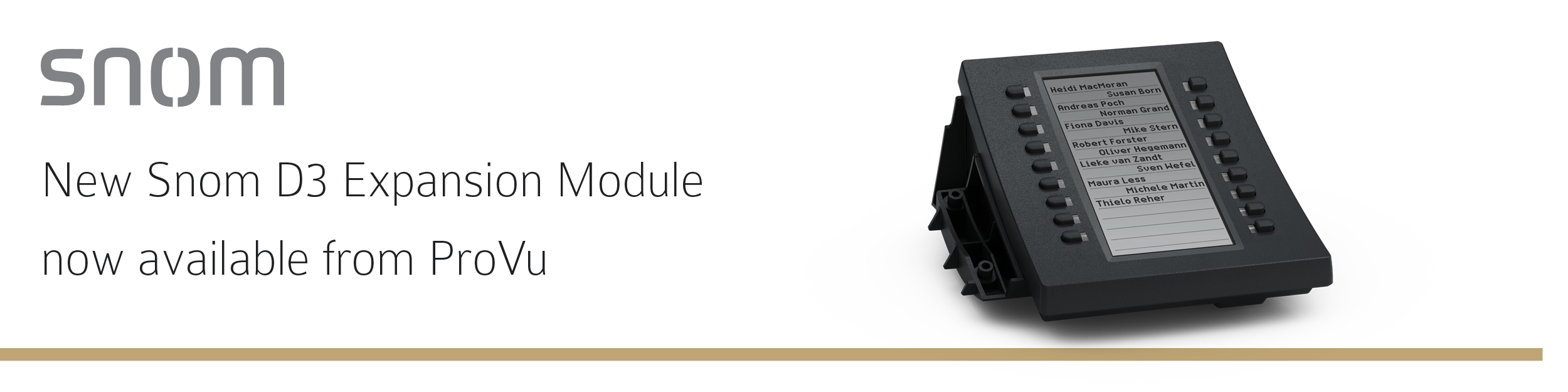 Snom D3 Expansion Module now available form ProVu